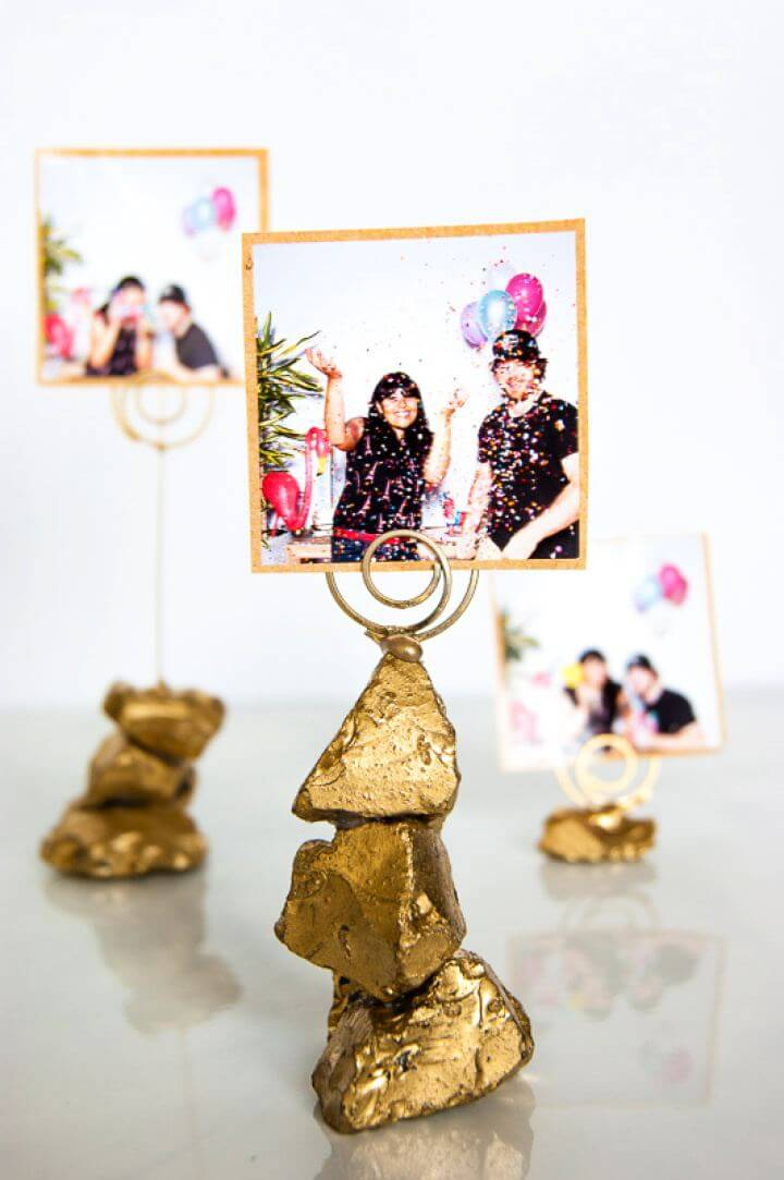DIY Golden Nugget Photo Holder