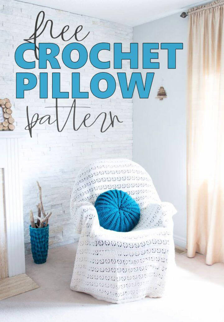 DIY Gorgeous Free Round Crochet Pillow Pattern