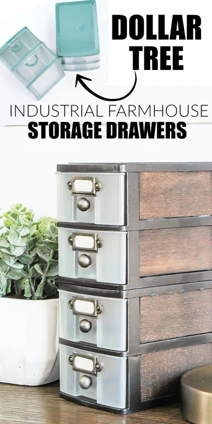 DIY Industrial Farmhouse Storage Drawers