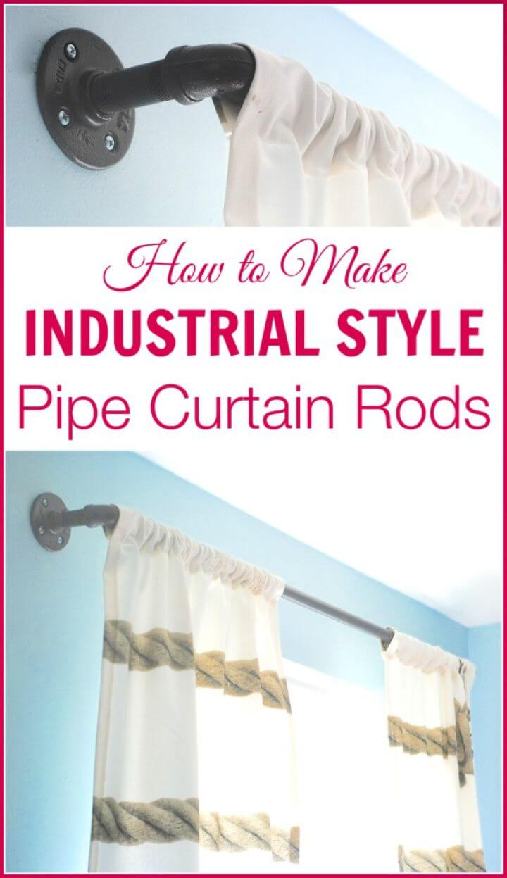 DIY Industrial Pipe Curtain Rods