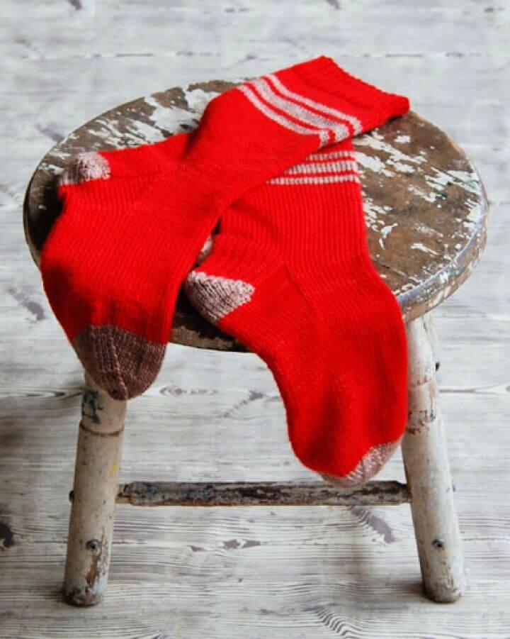 DIY Men's Socks for Giving Away