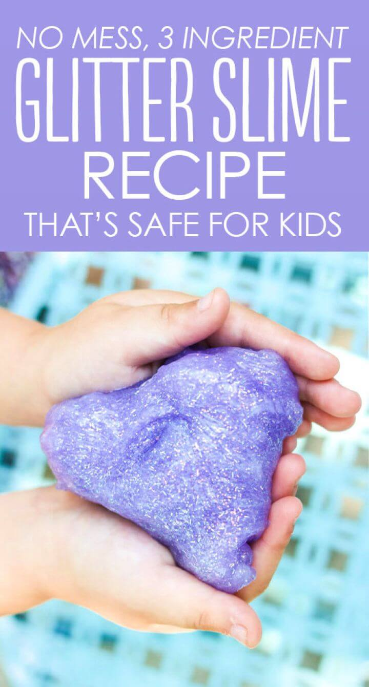 DIY Mess Free Glitter Slime Recipe
