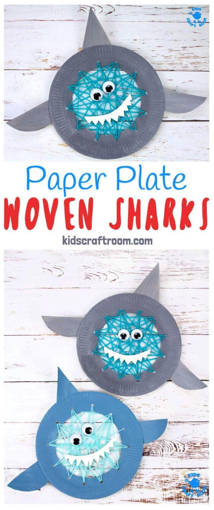 DIY Paper Plate Shark Sewing Craft