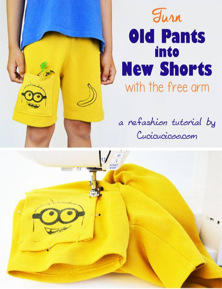 DIY Refashioning For Kids Turn Old Pants Into Shorts
