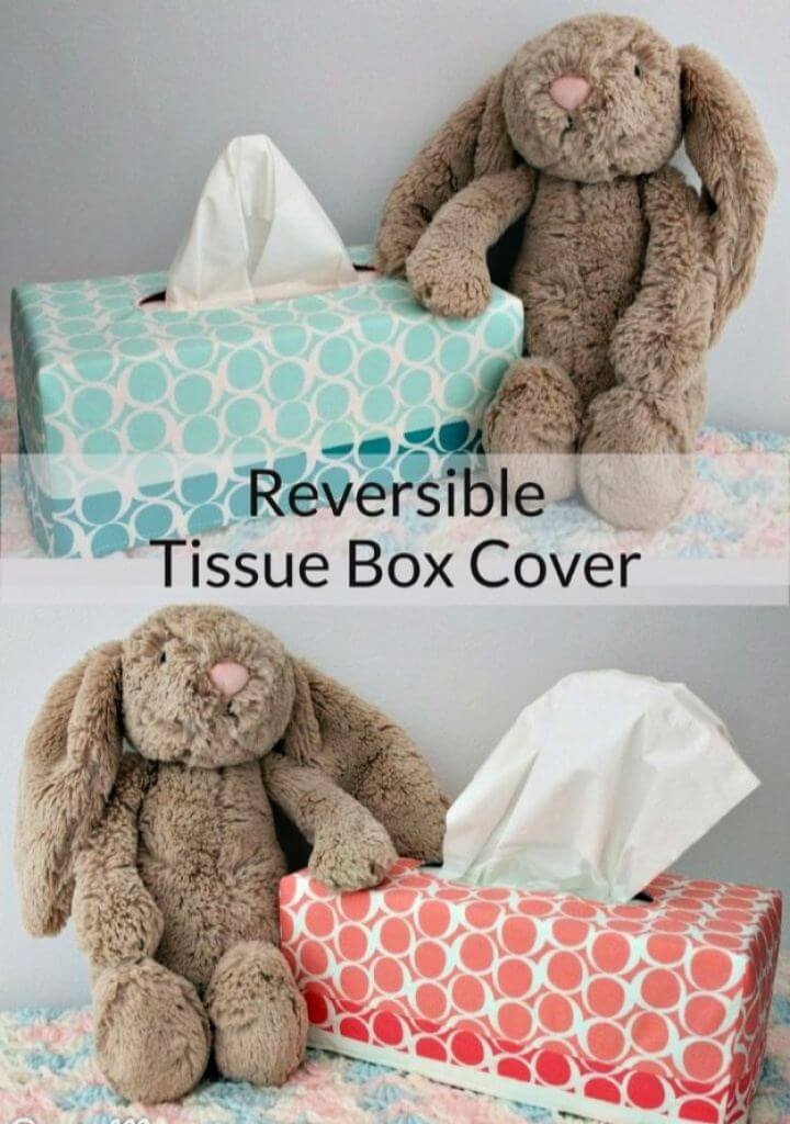 DIY Reversible Tissue Box Covers