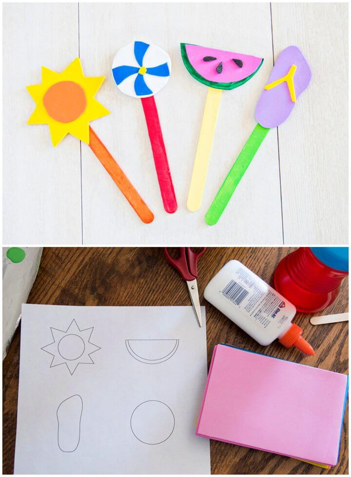 DIY Summer Fun Popsicle Stick Bookmarks