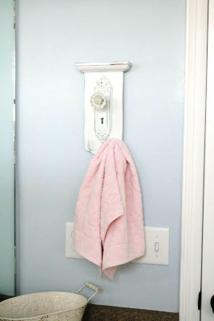 DIY Thrift Store Towel Hanger Revamp