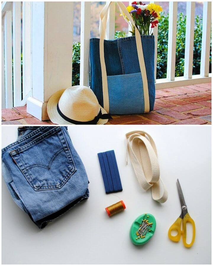 DIY Tote Bag from Upcycled Jeans