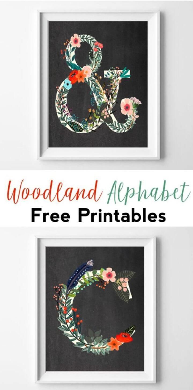 DIY Woodland Alphabet Free Printables