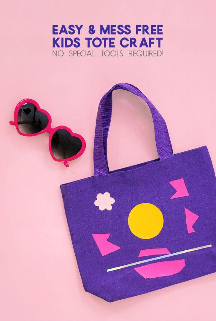 Easy And Mess Free DIY Tote Bag Craft