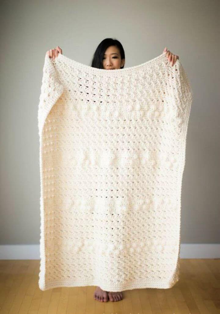 Easy Cross Bobble Crochet Blanket