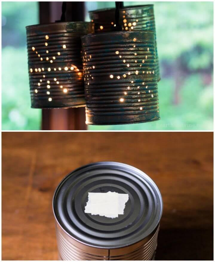 Easy DIY Beautiful Tin Can Pendant Lights