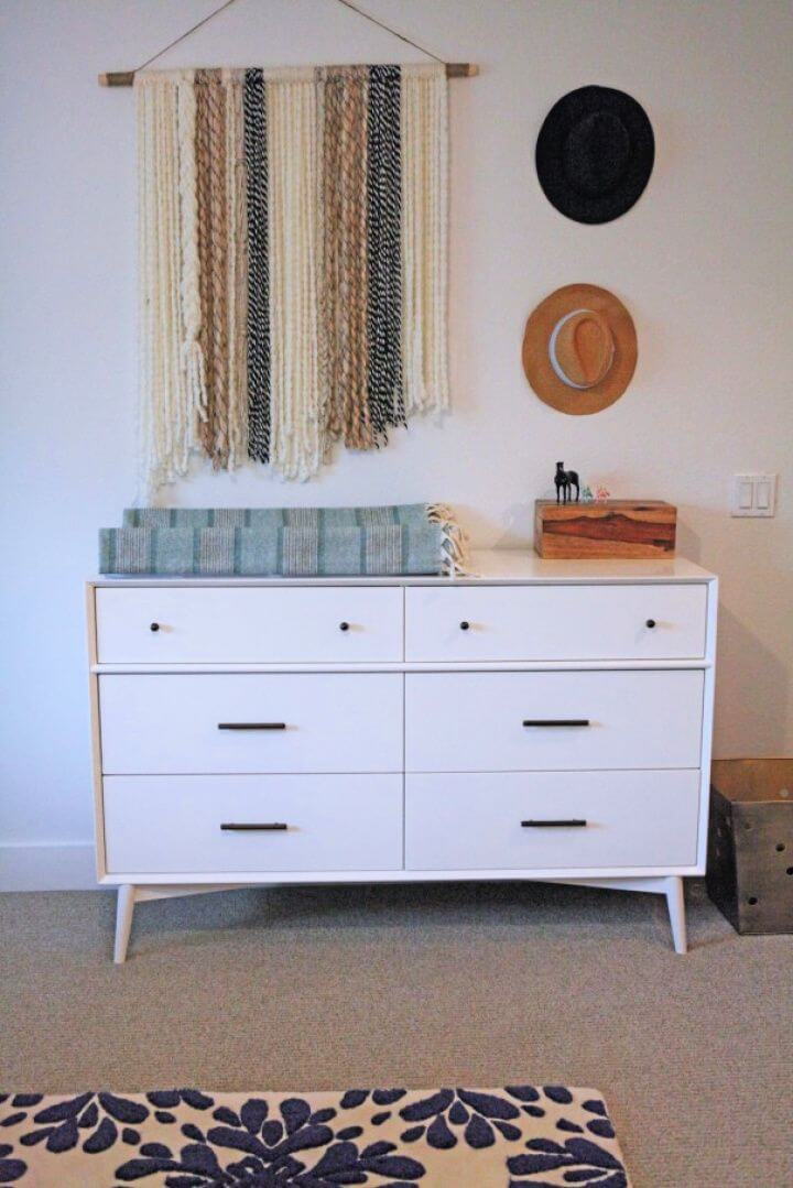Easy DIY Boho Yarn Wall Art