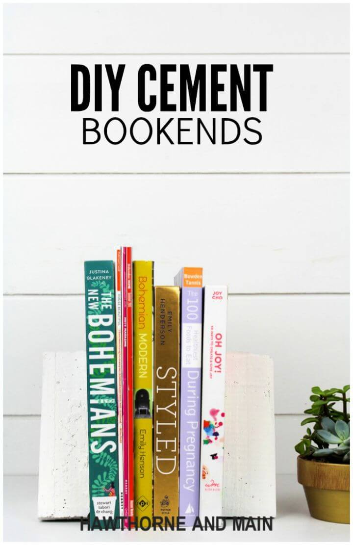 Easy DIY Cement Bookends