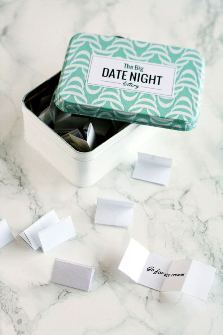 Easy DIY Date Night Lottery Tin