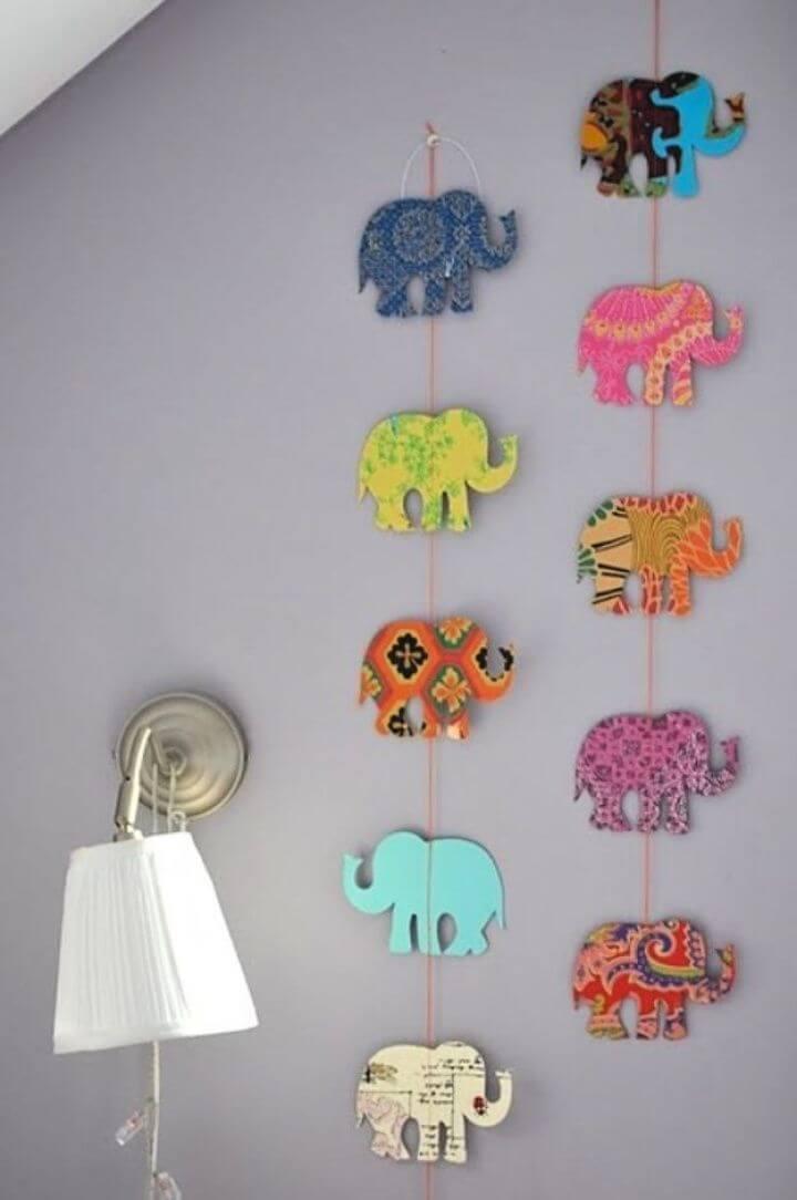 Easy DIY Elephant Garland