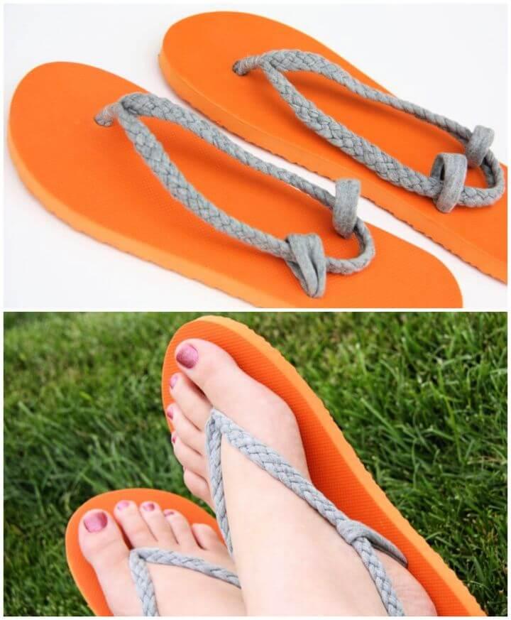 Easy DIY Flip Flop Refashion Idea