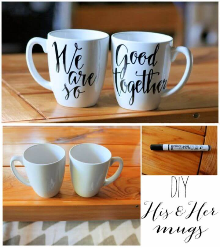 Easy DIY His And Her Mugs