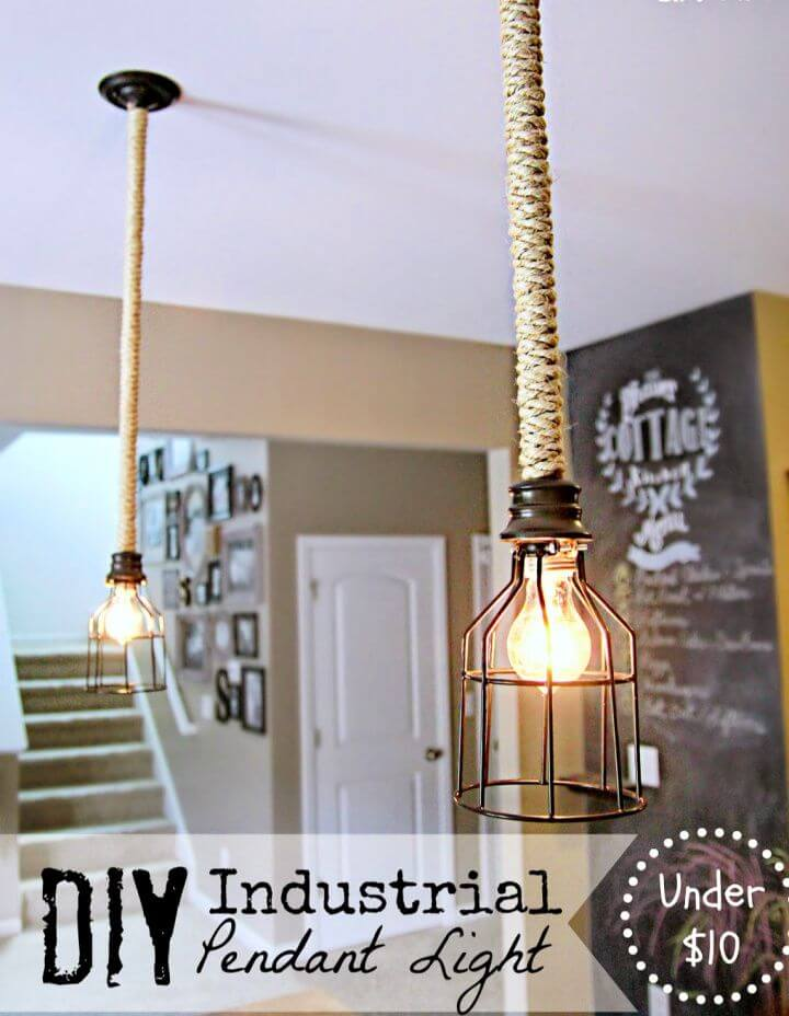 Easy DIY Industrial Pendant Light for Under 10