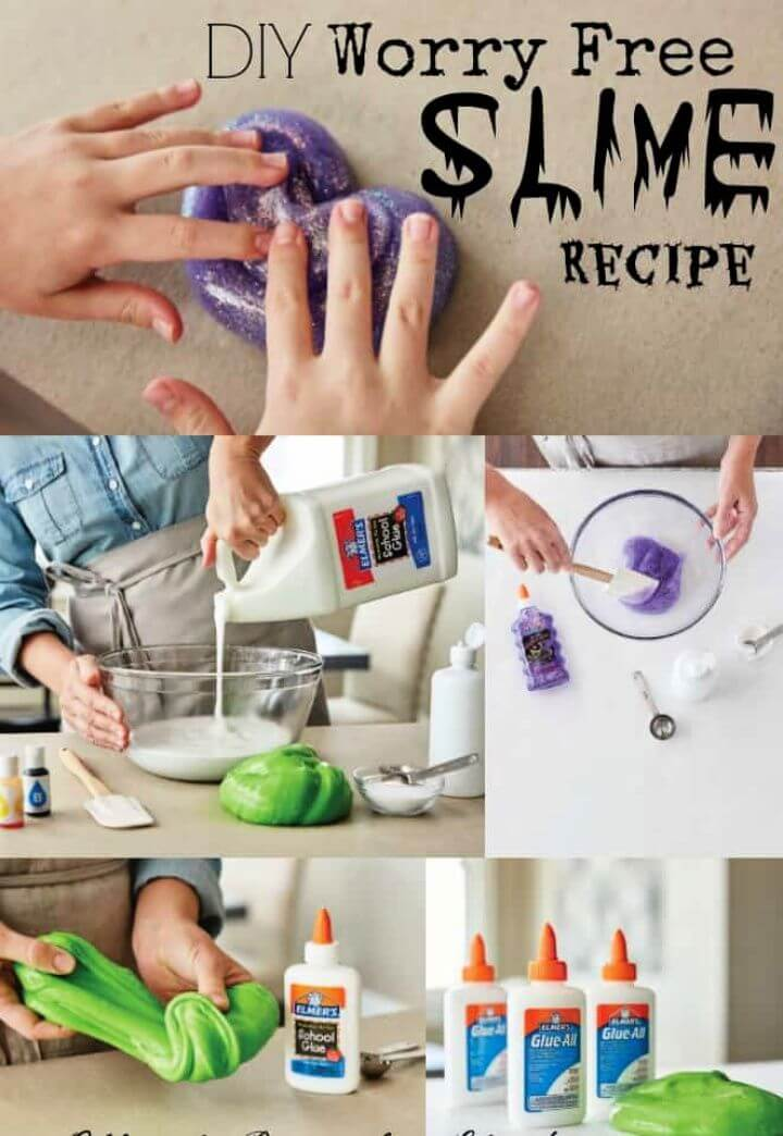 Easy DIY Kid's Worry Free Slime Recipe