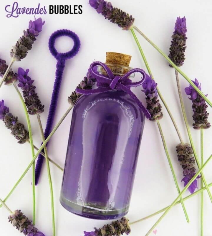 Easy DIY Lavender Bubbles