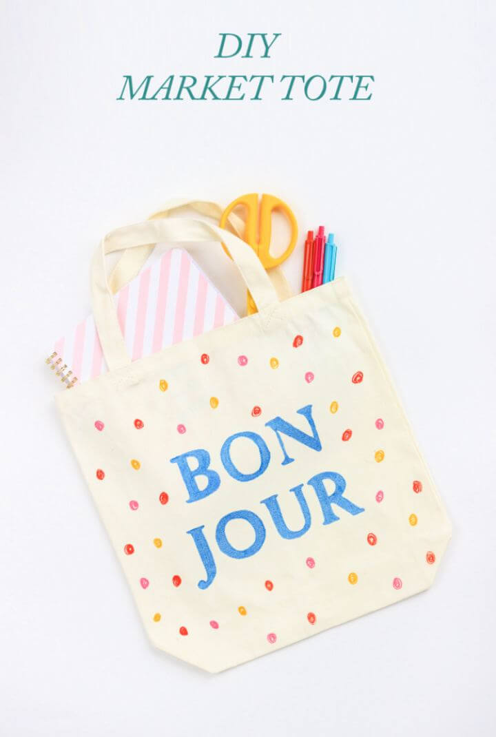 Easy DIY Market Tote Bag For Friends