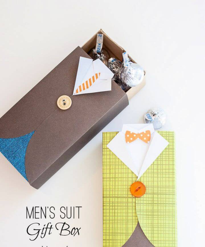 Easy DIY Men's Suit Gift Box And Treat Holder