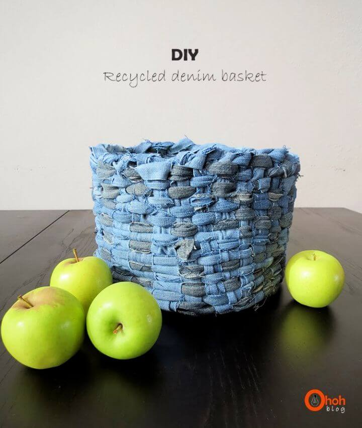 Easy DIY Recycled Denim Basket