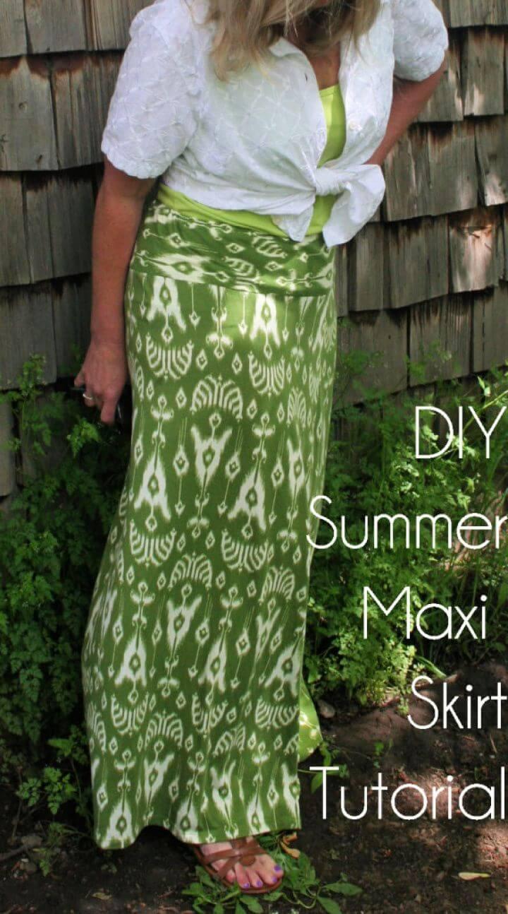 Easy DIY Summer Maxi Skirt Refashion Tutorial