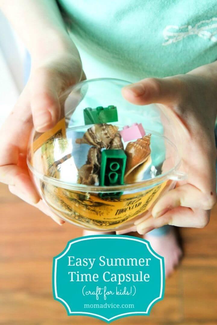Easy DIY Summer Time Capsule for Kids