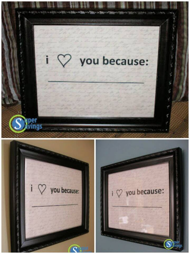 Easy DIY Valentines Day Gift Of Frame