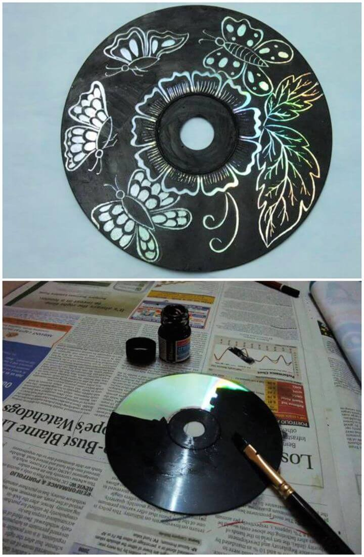 Easy DIY Wall Art From Old CDs
