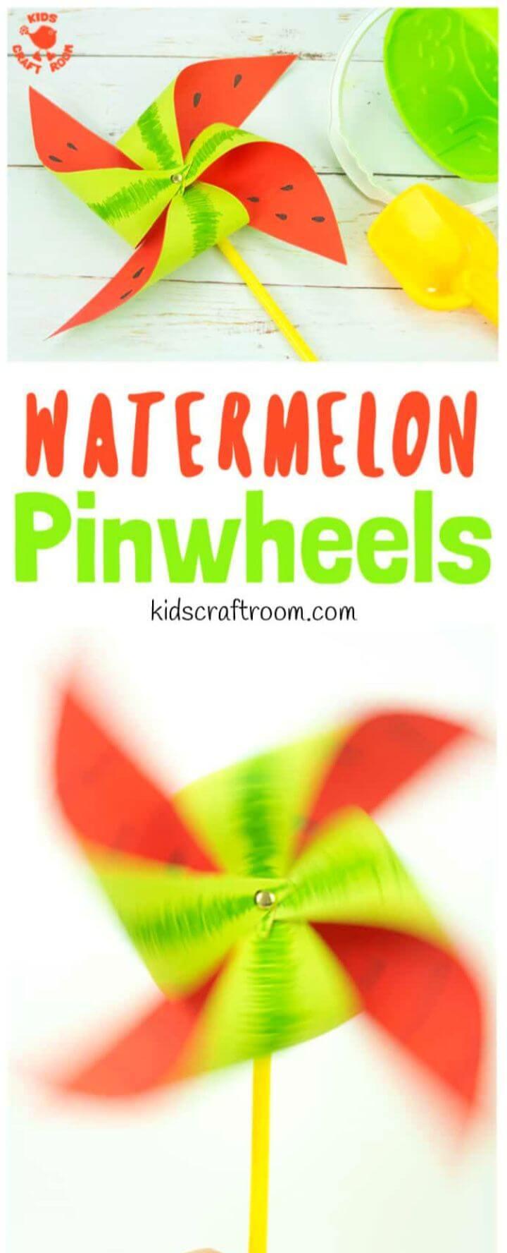 Easy DIY Watermelon Pinwheel Craft