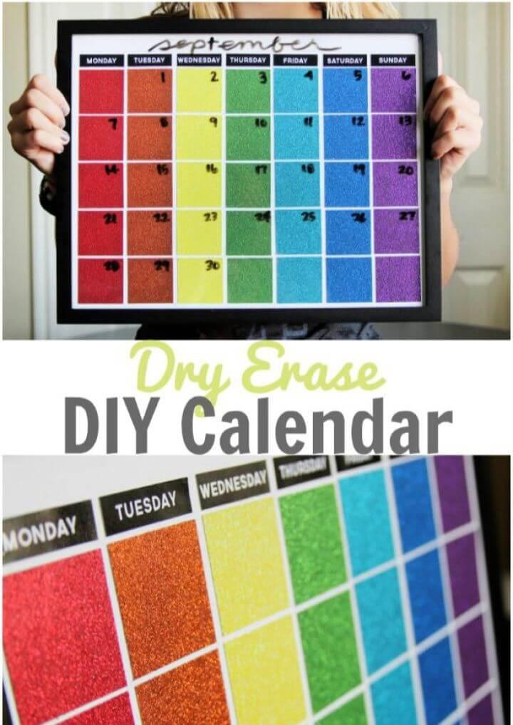 Easy Dry Erase DIY Calendar