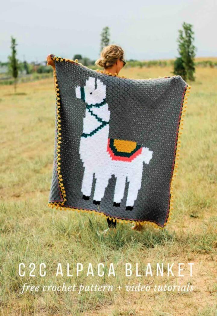 Free Alpaca Corner To Corner Crochet Blanket