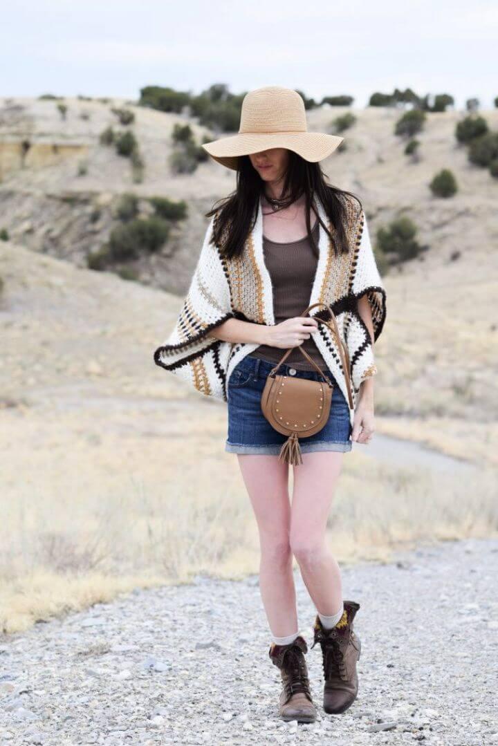 Free Baja Blanket Sweater Crochet Pattern