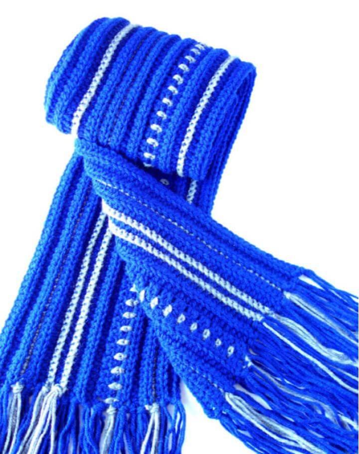 Free Crochet Men's Winter Scarf