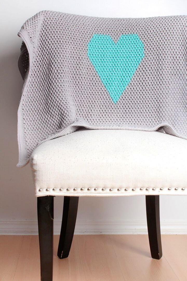 Free Heart Baby Blanket Crochet Pattern