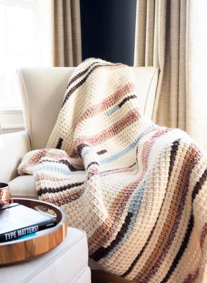 Free Tunisian Crochet Blanket Pattern