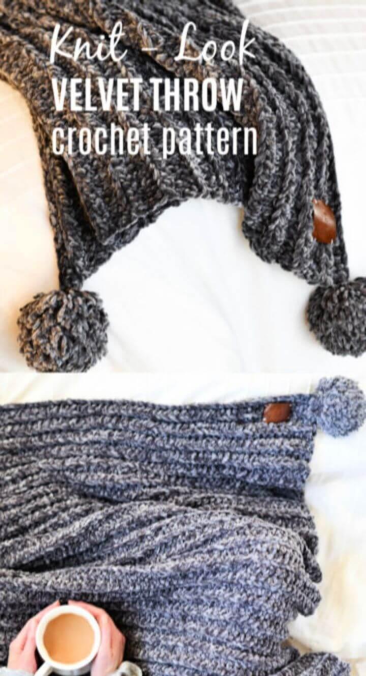 Free Velvet Crocheted Blanket Pattern
