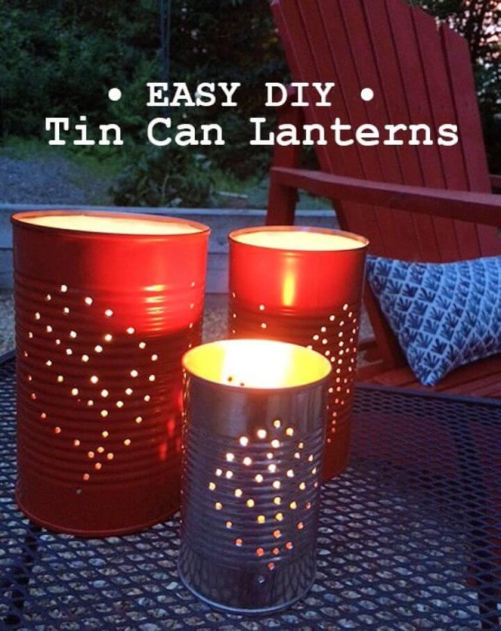 Fun Summer Lighting DIY Tin Can Lantern