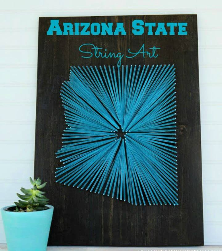 How To Build A Arizona State String Art