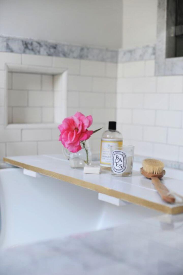 How To Build A DIY Bathtub Tray