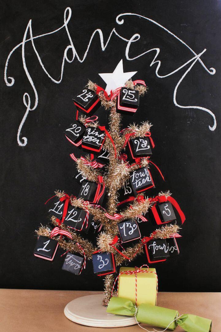 How To Build A DIY Chalkboard Advent Calendar