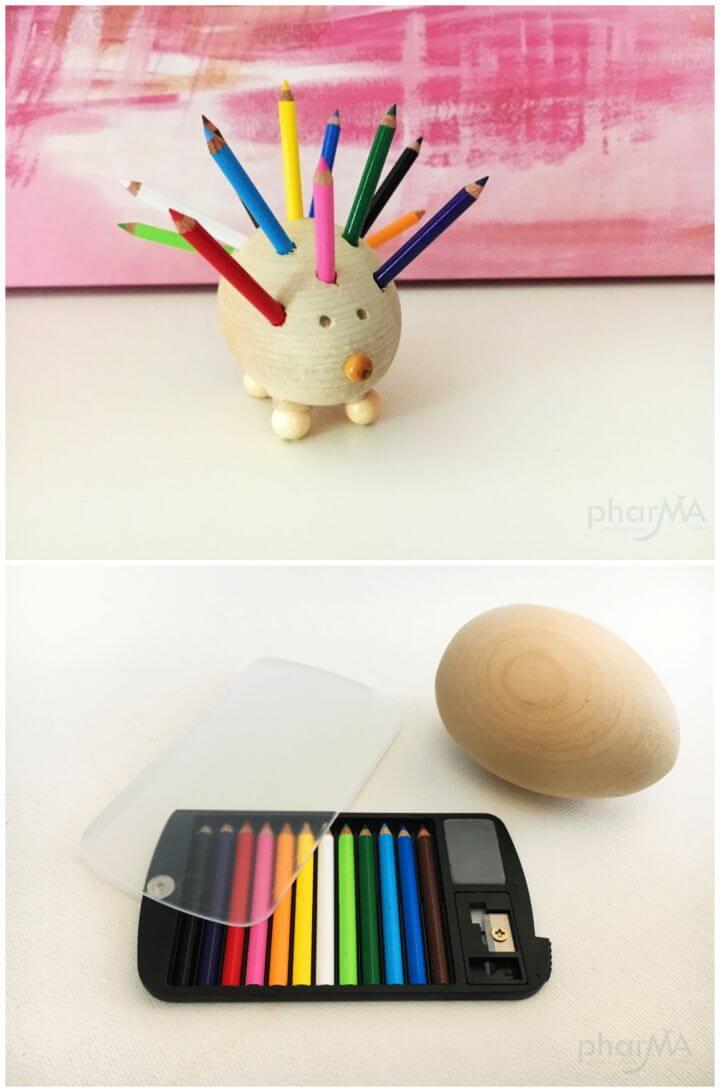 How To Build A DIY Hedgehog Pencil Holder
