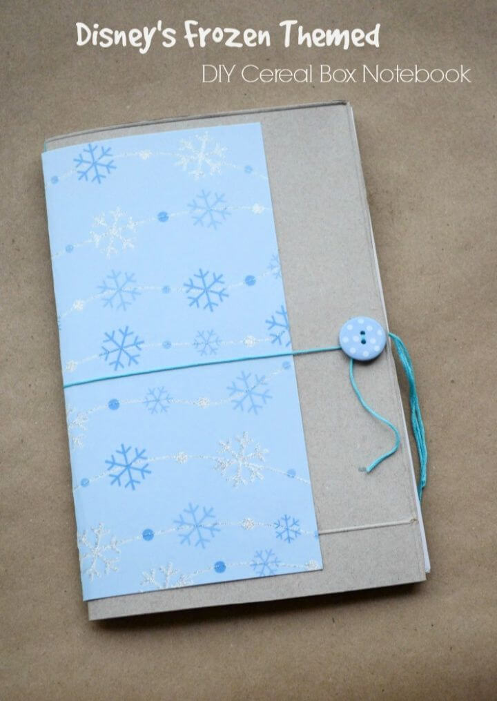 How To Build Your Own A DIY Cereal Box Notebook