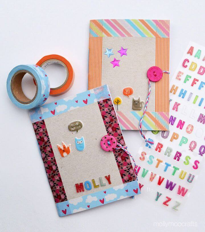 How To Build Your Own A DIY Cereal Box Notebooks