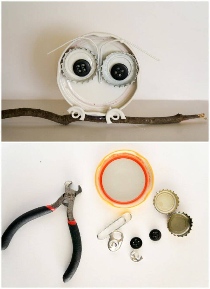 How To Create A Bottle Cap Owl