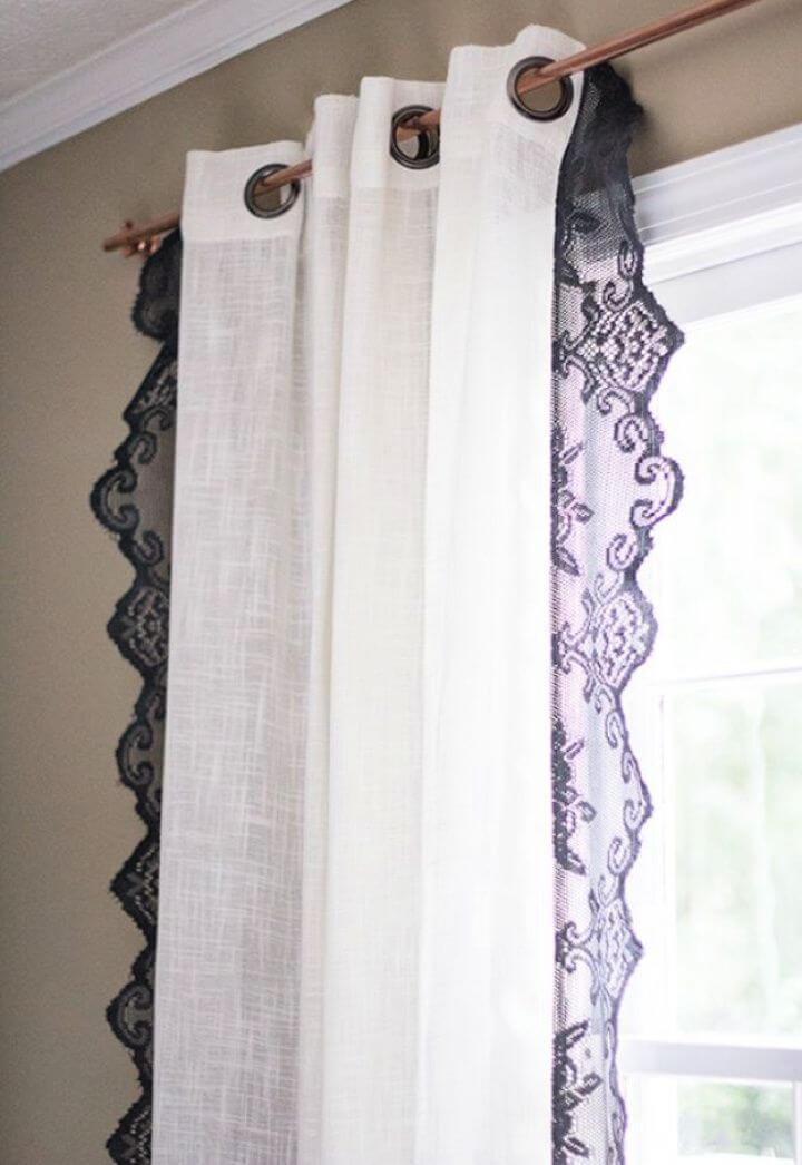 How To Create A DIY Boho Lace Curtains
