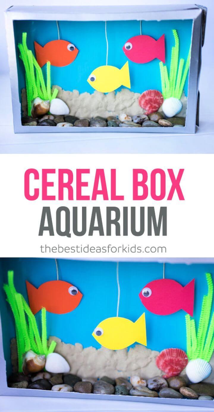 How To Create A DIY Cereal Box Aquarium